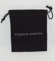 NEW AUTH STEPHEN WEBSTER BLACK JEWELRY DUST BAG/ POUCH - $4.99