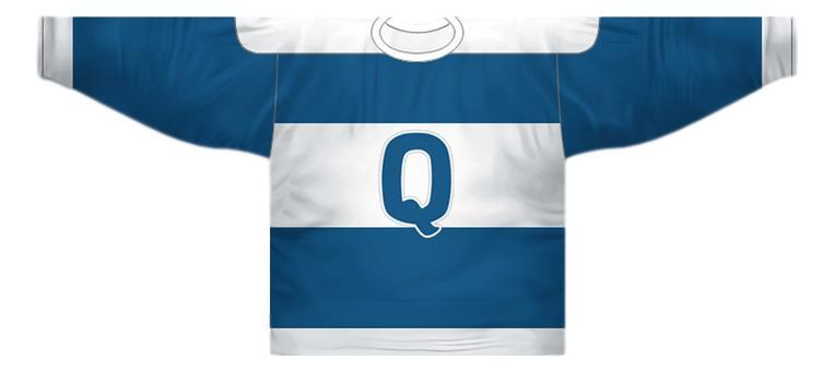 Any Name Number Quebec Bulldogs Retro Hockey Jersey Blue Any Size