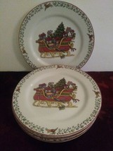 Set Of 4 International China Susan Winget Over The Housetops Salad Plate... - $37.39