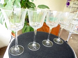 "Set of 4 Tall Stem Wine Goblets 8 1/8"" Tall - $29.70"