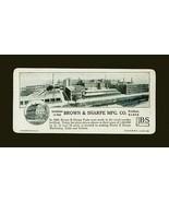 Brown & Sharpe Providence, RI Machinery Tools Manufacturing Calculating ... - $14.99