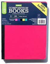 Casemate Set of 5 Wide Ruled Poly Composition Books - Assorted Colors - $17.63