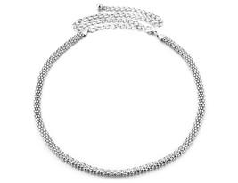 Silver Mesh Ladies Waist Chain Charm Belt in Gold Adjusatble One Size Fi... - $13.33