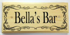 Personalised Bar Sign, Home Bar Plaque Pub Shed Gift Fathers Day Worksho... - $11.20