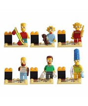 6pcs/set The Simpsons Family Homer Marge Bart Lisa Maggie Lego Minifigures Toy - $9.99