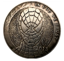 Hobo Nickel Dollar Spider man DC Marvel Super Hero Comic US Art Casted ... - $10.96