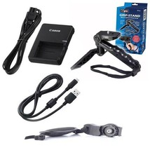 Charger + Tripod + Grip Strap + USB Cable for Canon EOS REBEL T7, 1500D, 2000D, - $26.99