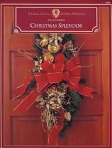 Christmas Splendor Doorpiece & 2 Centerpieces Floral Crafting Project Le... - $1.77