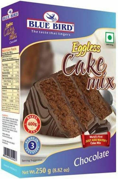 Blue Bird Eggless Cake Mix Choose from Chocolate Or Vanilla 250Gm each frm India