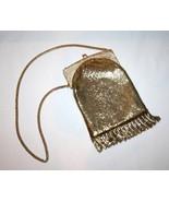 Vintage WHITING & DAVIS Gold Mesh Fringe Evening Bag    #1190 - $109.00