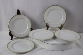 "Fitz & Floyd Palais White Salad Plate 7 1/2""- Set of 5 - $40.00"