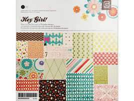 BasicGrey Hey Girl Paper Pad, 6x6 Inches #BBA-4051