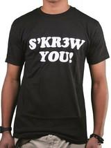 KR3W Skateboarding Mens Black S'KR3W YOU! screw FU T-Shirt NWT