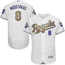 Champions Gold Kansas City 8 Mike Moustakas Jersey KC Royals Men Basebal... - $48.99