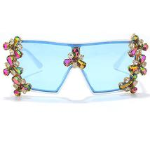 Oversized Colorful Diamond Sunglasses Women Luxury Fashion One Piece Square Sung image 9
