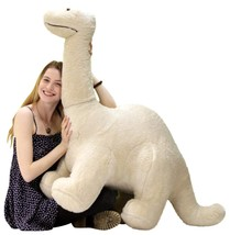 American Made Big Plush Dinosaur Giant Stuffed Brontosaurus 4 Ft Long 3 ... - $169.90