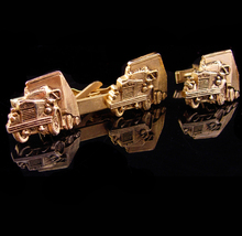 Vintage Semi truck cufflinks / white motor company / Tractor Trailer tie... - $175.00