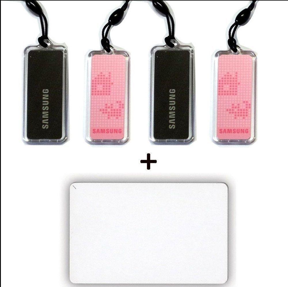 4pcs Genuine SAMSUNG EZON Digital Door Lock key Tag + 1pcs RFID Card 13.56MHz...