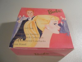 BOX ONLY! 1995 Barbie Pretty and Pink Fossil Watch Box - $8.42