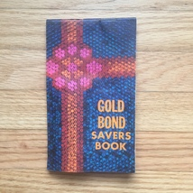 Vintage set of 3 Gold Bond Savers books - all include stamps in books image 6