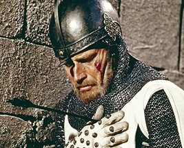 Charlton Heston In El Cid Classic Scene With Spear In Chest 16X20 Canvas... - $69.99