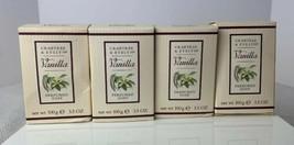 Crabtree & Evelyn Vanilla Perfumed Soap Set of 4 boxed Bars 3.5oz Each New - $59.39