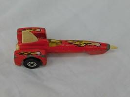 1979 Hot Wheels Land Speed Racer Red w/ Yellow Flames Rocket Car Mattel - $9.31
