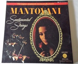 Longines Mantovani Sentimental Strings 5 Record Box Set LP Records Orche... - £24.54 GBP