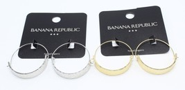 New Gold or Silver Hammered Hoop Earrings from Banana Republic #BRE7 - $7.99