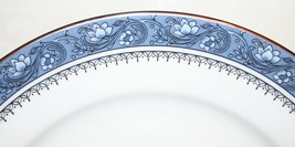 "Blue Mist 8.25"" Salad Plate Platinum Trim Bone China Made in England by Aynsley image 1"