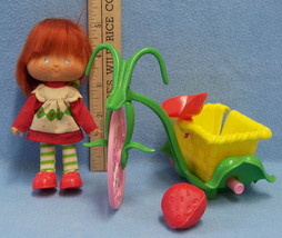 Vintage Strawberry Shortcake Doll With Red Hair and Tricycle by Kenner 1982 - $12.86