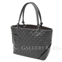 CHANEL Cambon Large Calf Patent Leather Black Tote Bag A25169 Authentic ... - $1,573.09 CAD