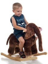 Happy Trails Plush Rocking Mo Mammoth With Sounds Sturdy Frame For 100 lbs. - $56.29