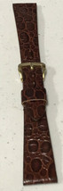 Vintage Caravelle 18MM Buffalo Calf watch Band Gold buckle NOS ! - $19.00