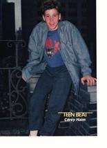 Corey Haim Chris Young teen magazine pinup clipping cat shirt barefoot Teen Beat