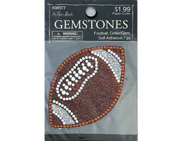 Hobby Lobby Gemstones Self-Adhesive Applique, Football #698977