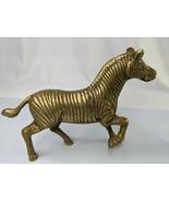 """Brass Zebra Figure 7.5"""" Statue  - $129.95"""