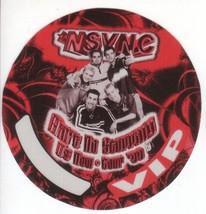 N SYNC n sync  backstage pass Tour Satin cloth collectible VIP - $11.38