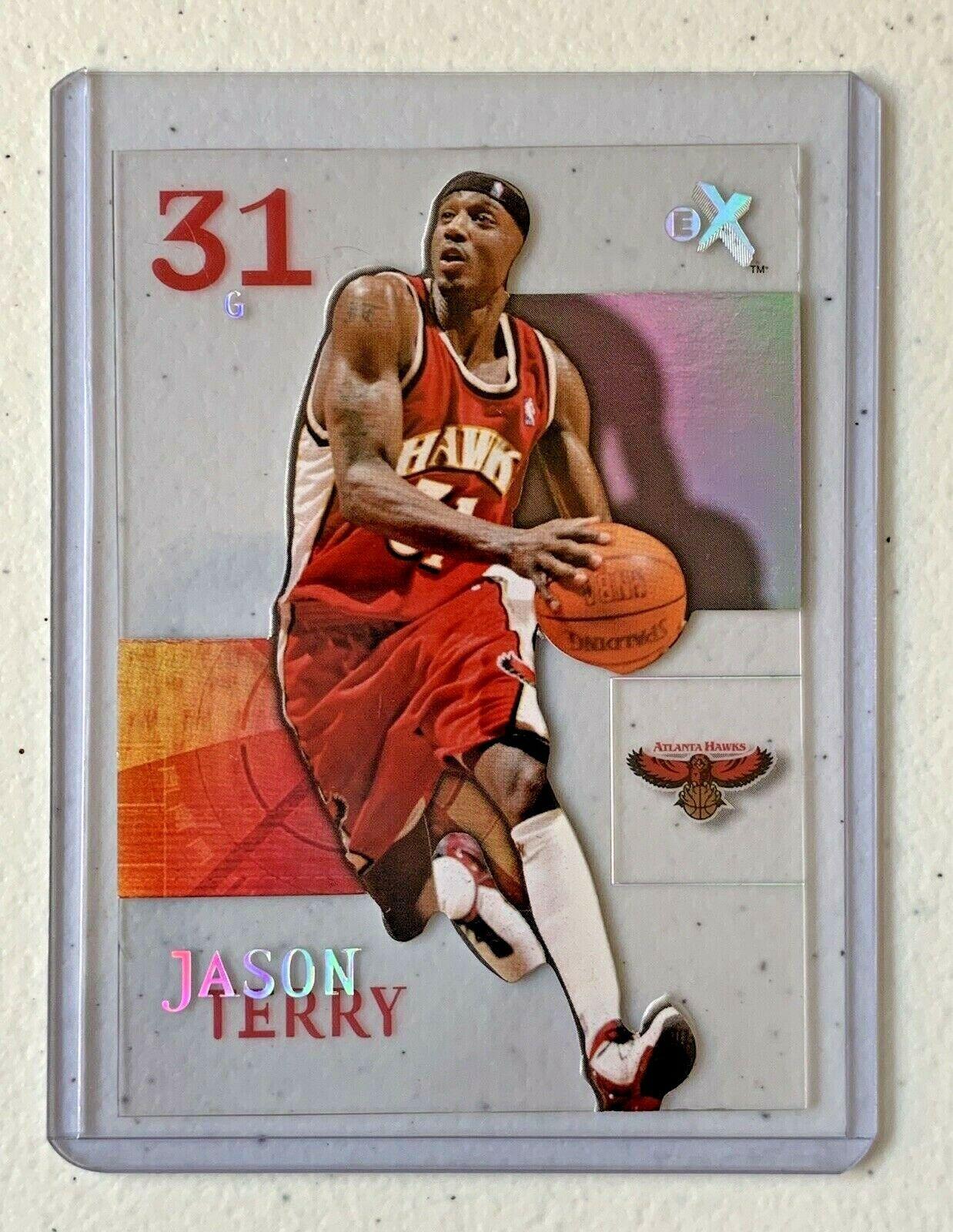 Jason Terry Now/66 #65 Atlanta Hawks Fleer Basketball Card with Hard Case 31G image 10