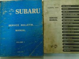 1977 Subaru 1600 Service Repair Shop Manual Set FACTORY FEO BOOKS Used Damaged - $32.62
