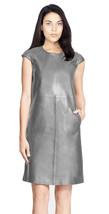 New Women Genuine 100% Lamb Skin Leather Designer party wear Ladies Dress-12