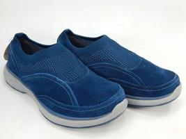 Ryka Talia Sz 5.5 M EU 35.5 Womens Leather Stretch Knit Slip-On Shoes Fresh Navy - $33.65