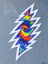 Tie Dye Lightning Bolt Outside Window Sticker  Deadhead   - $5.49