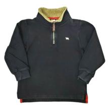 Carters Boys Sweatshirt 4 Black Brown Sherpa Trim 1/4 Zip Pullover Shirt... - $17.99