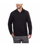 Calvin Klein Jeans Mens ¼ Zip Pullover, Black, Size L - $16.82