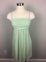 U8 SOMA Womans Pistachio Green Ruched Nightie Nightgown Pockets Sz M - $22.00