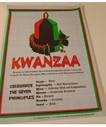 Kwanzaa poster Seven 7 Principles of Kwanzaa ! Extra Large 24'' x 18'' K... - $24.74