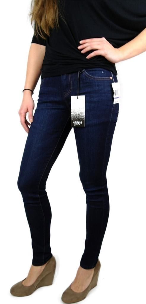 Kensie Jeans Women's Premium Skinny Slim Fit Denim Jeans Starry Eyed