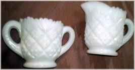 Westmoreland Thumbelina Set  Child's Milk Glass Creamer and Sugar Set - $12.00