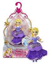 Disney Princesses Rapunzel 3.5in Doll with Royal Clips Fashion New in Pa... - $8.88